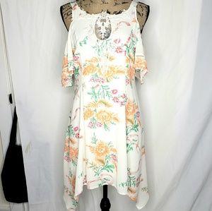"Disney | ""Belle"" Floral Handkerchief Dress"